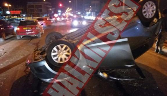 Hamitköy ışıklarında zincirleme  kaza