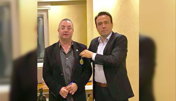 Hasan Çakmak'a Ankara'da kültür madalyası