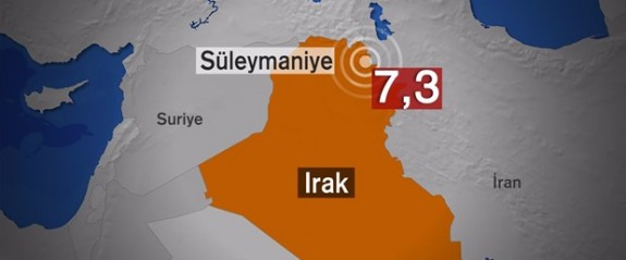 Irak'ta 7,3 büyüklüğünde deprem