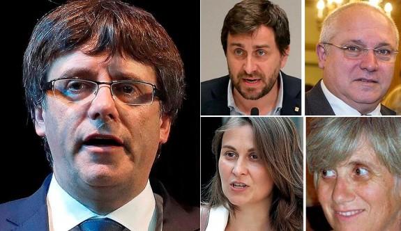 Katalan lider ve 4 bakan teslim oldu