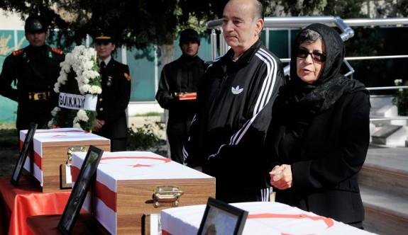 Kaymaklılı üç kayıp şehit, askeri törenle defnedildi