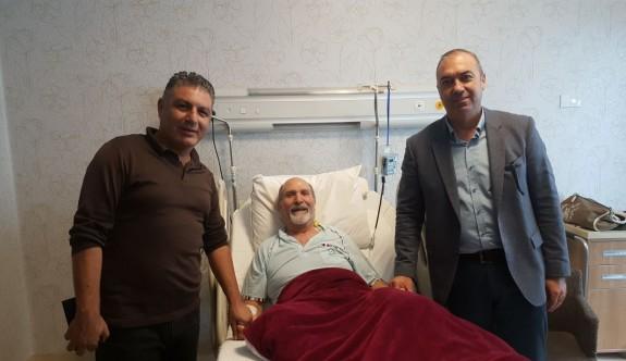 Sertoğlu ile Köseoğlu'ndan, Okutan'a geçmiş olsun ziyareti