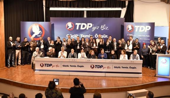 TDP'de aday sıralaması belli oldu