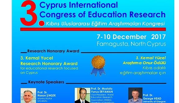 3. Kıbrıs Uluslararası Eğitim Araştırmaları Kongresi