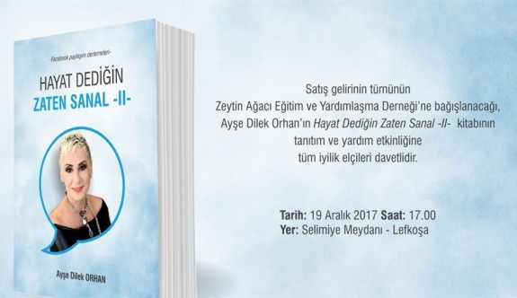 Ayşe Dilek Orhan yeni kitabını yarın tanıtacak