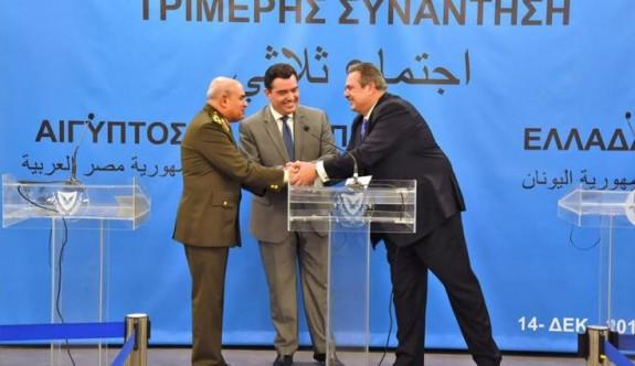 Güney Kıbrıs, Yunanistan ve Mısır arasında savunma zirvesi yapıldı