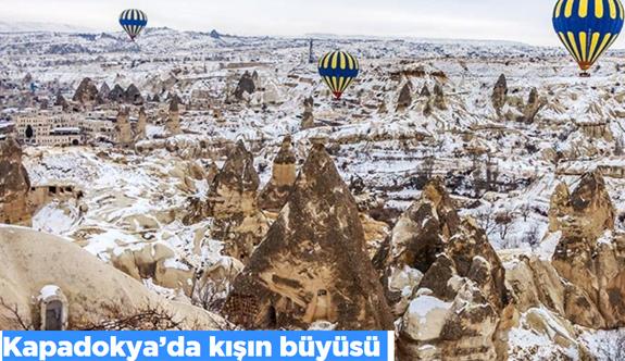 Kapadokya'da kışın büyüsü