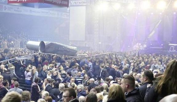 Konserde havalandırma borusu dehşeti