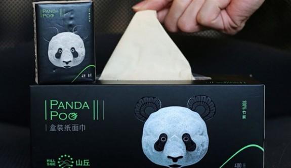 Panda dışkısından peçete üretildi