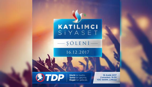 """TDP, """"Katılımcı Siyaset Şöleni"""" düzenliyor"""