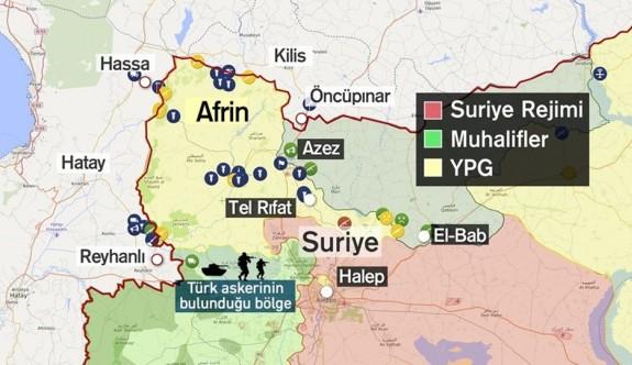 Afrin'e havadan karadan bomba yağmuru
