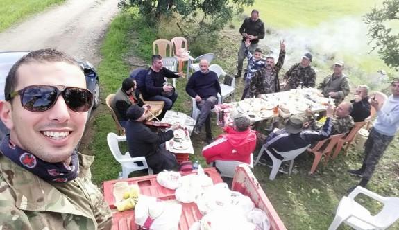 Avcılar güzel havayı piknikle değerlendirdiler