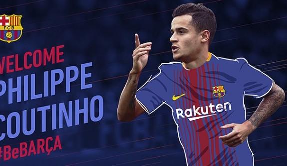 Coutinho resmen Barcelona'da