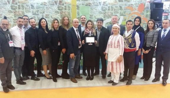 EMİTT Fuarı'nda Kuzey Kıbrıs standına ikinci kez birincilik ödülü