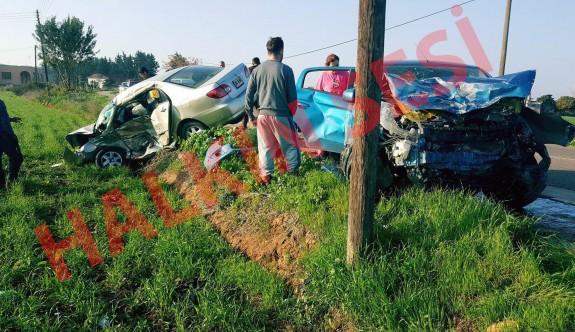 Feci kazada biri ağır iki yaralı