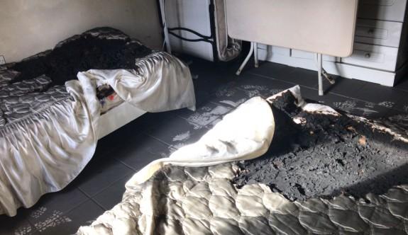 Gazimağusa'da boş evde yangın kuşku uyandırdı