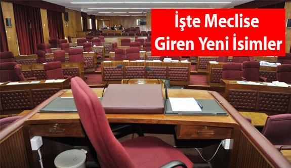 Meclis'e 21 yeni isim