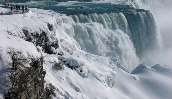 Niagara Şelalesi buzla kaplandı