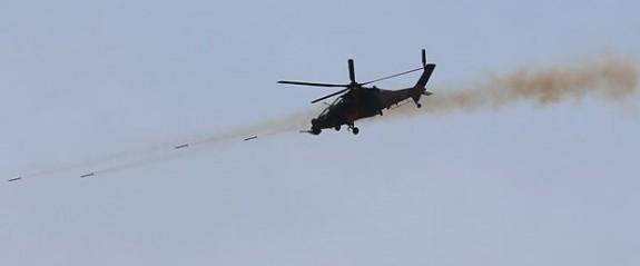 'Zeytin Dalı Harekatı'nda yerli helikopter yerli silahlar kullanılıyor