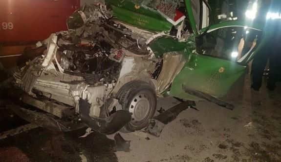 Aslanköy'de feci kaza: 1 ölü