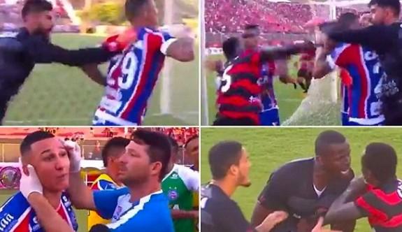 Brezilya'da bir maçta 9 kırmızı kart