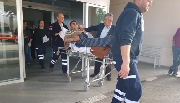 Elinden düşen tüfekle yaralandı