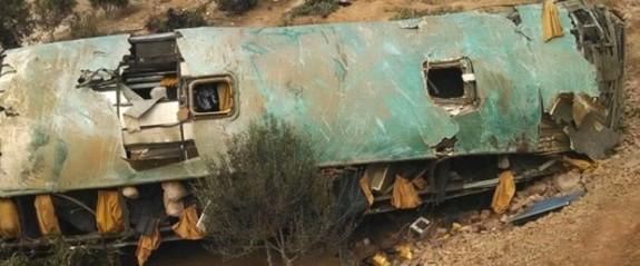Peru'da otobüs kazası: 44 ölü