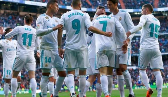 Real Madrid golcüleriyle coştu