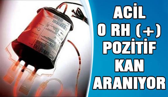 Acil 0 RH + kan aranıyor