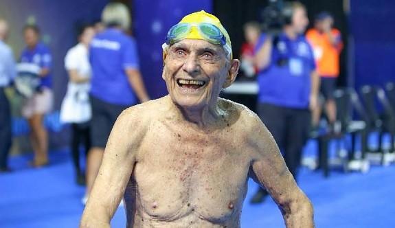 99 yaşında dünya rekoru kırdı