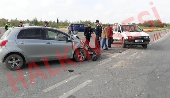 Akıncılar Kavşağındaki kazada 5 yaralı