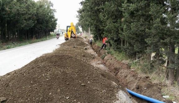 Alaniçi'ndeki asbestli su boruları değiştirildi
