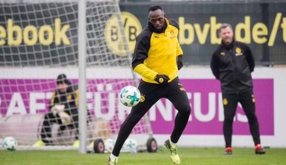 Bolt, Dortmund ile antrenmana çıktı