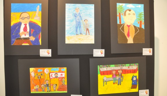 Çocuklar resimlerle kalplerindeki Dr. Küçük'ü anlattı
