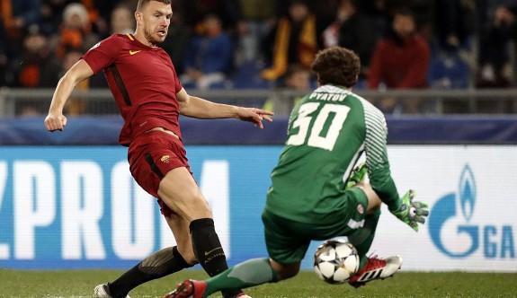 Dzeko'nun golüyle Roma çeyrek finalde