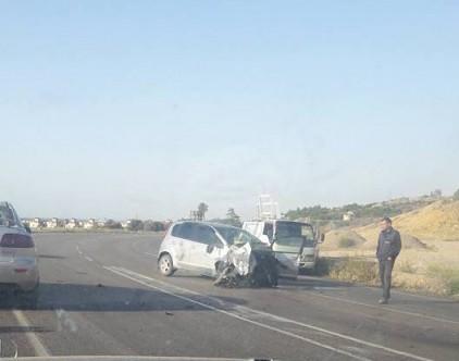 Ergazi Kavşağı'nda korkutan kaza