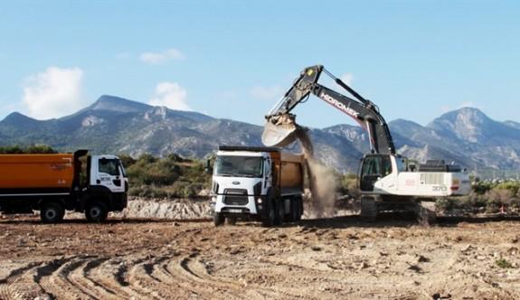 Girne-Değirmenlik Yolu'ndaki  çalışmaları salı günü tamamlanacak