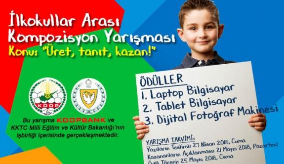 Koopbank İlkokullararası Kompozisyon Yarışması başladı