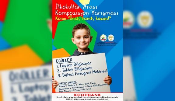 Koopbank'tan ilkokullar arası kompozisyon yarışması