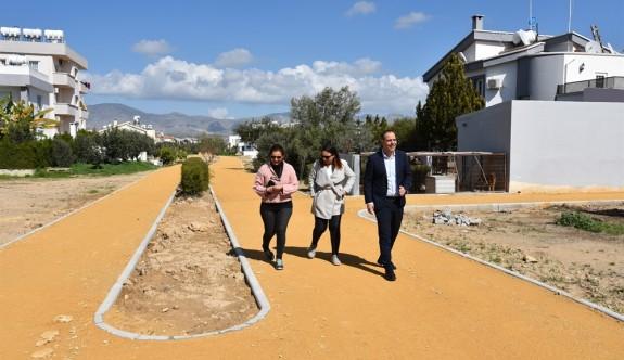"""Metehan'da """"Yürüyüş ve Bisiklet Yolu Projesi""""nin ilk etabı tamamlandı"""