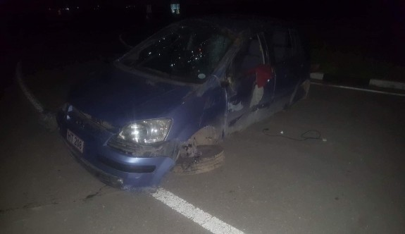 Sürat ve dikkatsizliği kazaya neden oldu