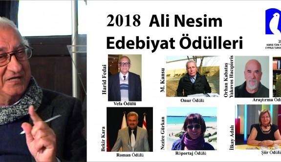 2018 Ali Nesim Edebiyat Ödülü alanlar belirlendi