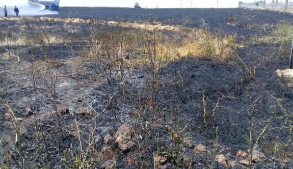 Çöp alanında başlayan yangından 500 dönüm arazi kül oldu