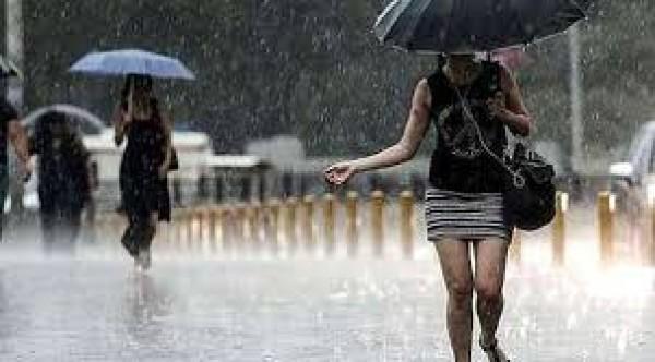 Cumartesi günü yer yer sağanak yağmur bekleniyor