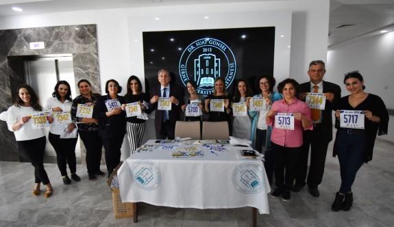 Dr. Suat Günsel Girne Üniversitesi Hastanesi'nden Girne Maratonu'na destek