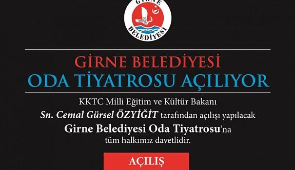 Girne Belediyesi  Oda Tiyatrosu açılıyor
