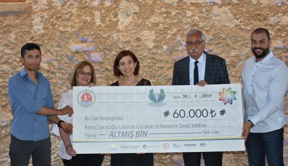 Girne Maratonu'nun geliri Kanserle Savaş Vakfı'na bağışlandı