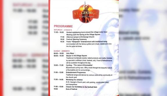 Koruçam'da hafta sonu Aziz George Festivali yapılacak