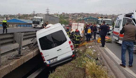 TEM'de korkunç kaza