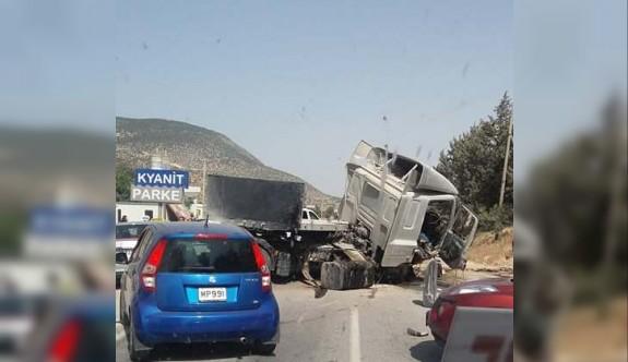 Değirmenlik dağ yolunda korkutan kaza